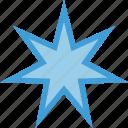 star, seven, octagonal, shape