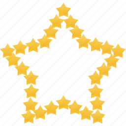 favorite, gold, prize, star, win, winner icon