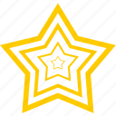 favorite, gold, prize, star, win icon