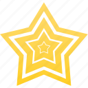 favorite, gold, star, win, winner icon