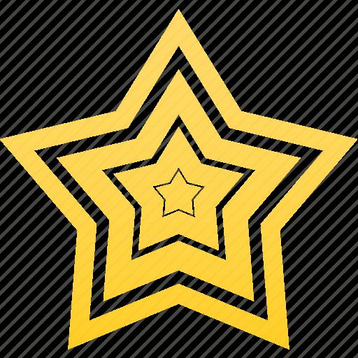 favorite, gold, star, win, winner icon