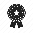 achievement, approved, award, badge, best, excellent, favorite, medal, star icon