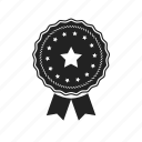 achievement, approved, award, badge, best, excellent, favorite, star, win icon