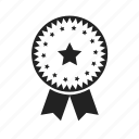 achievement, approved, award, badge, collection, excellent, favorite, medal, star, win, winner icon