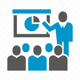 business, lecture, meeting, office, presentation, teach, training icon