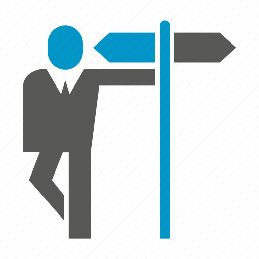 business people, decision making, direction, road sign, signage, way icon