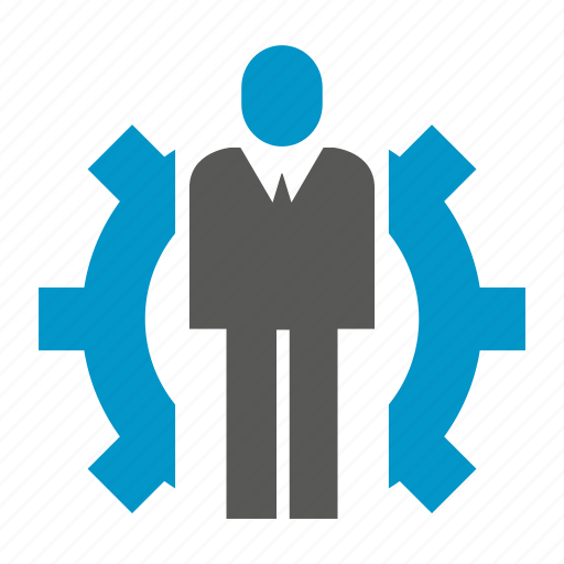 business, cog, gear, logic, people icon