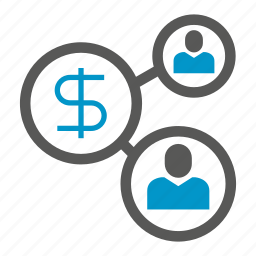connect, dollar, link, money, network, people, share icon
