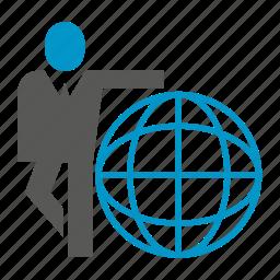 business, global, globe, people, world icon