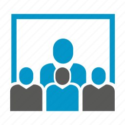 conference, group, meeting, office, people icon