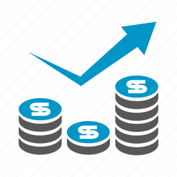 chart, coin, currency, finance, graph, growth, money icon