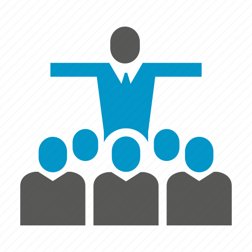 community, conference, evangelist, group, leader, meeting, speaker icon