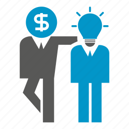 dollar, friend, idea, money, people, think, together icon