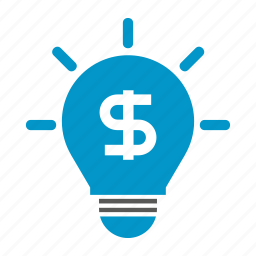 bulb, dollar, idea, mind, money, rich, think icon