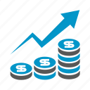 chart, dollar, finance, growth, money, rich, up icon