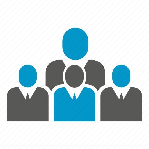 business people, crowd, group, people icon