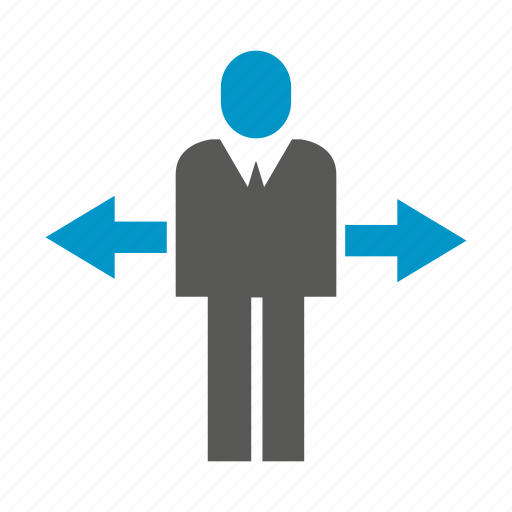 arrow, business people, decision making, direction, people icon