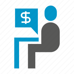 money, office, people, sigging, worker icon