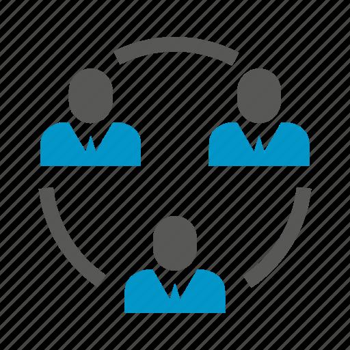 business people, diagram, loop, manpower, organization, people icon