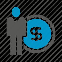 dollar, finance, fund, money, people icon
