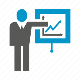 business, chart, graph, office, people, presentation, projector icon