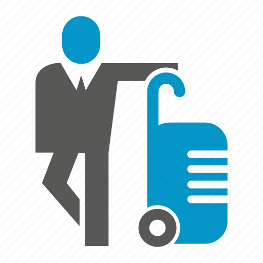 business people, travel bag icon