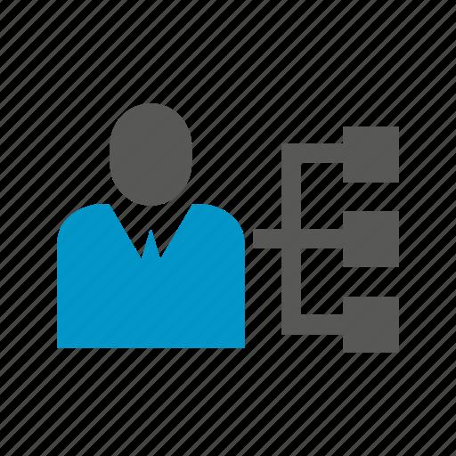 boss, diagram, management, organization, organization chart icon