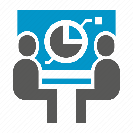 business, market share, office, people, pie chart, presentation, projector icon