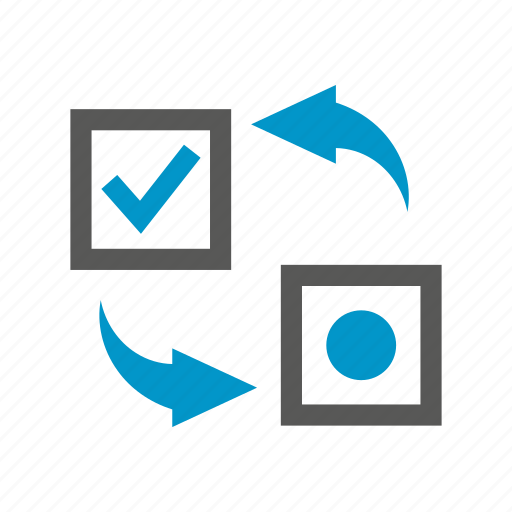 allocate, arrow, check, plan, strategy icon