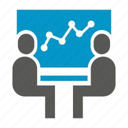 business, graph, office, people, plot, presentation, projector icon