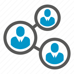 connection, link, network, people, share icon