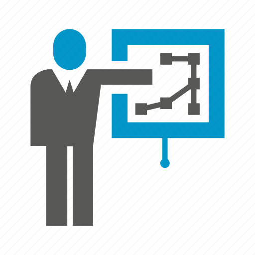 business, diagram, office, people, plan, presentation, projector icon