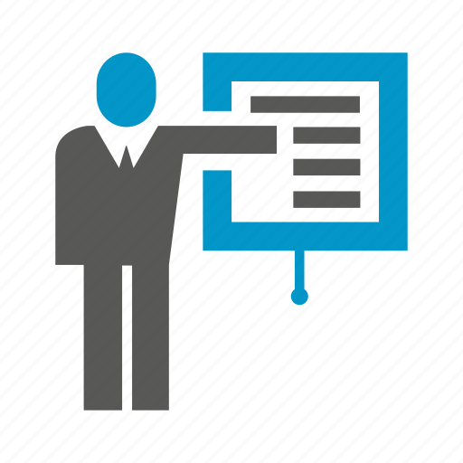 business, office, people, presentation, projector, slide icon