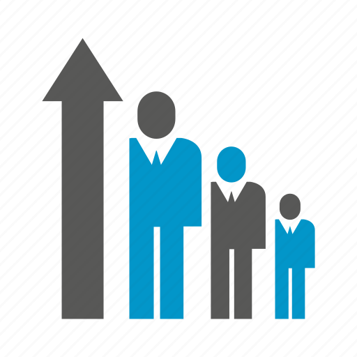 Arrow, chart, graph, growth, people icon - Download on Iconfinder