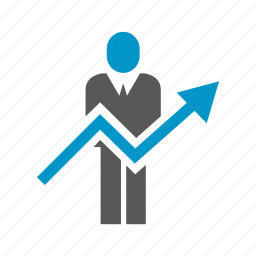 arrow, business people, increasing, people, up icon