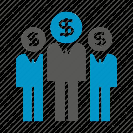 business, dollar, finance, fund, investor, money, people icon