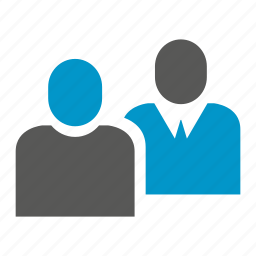 business people, interview, people icon