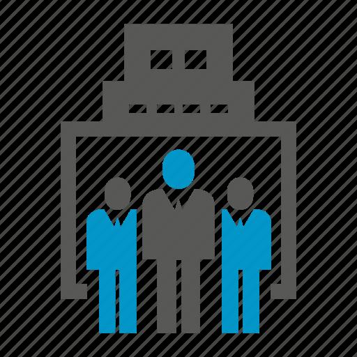building, entrepreneur, leader, office, teamwork icon