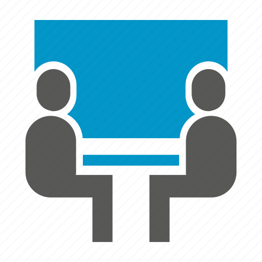 business meeting, office, people, sitting, whiteboard icon