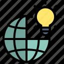 creative, idea, innovation, design, thinking, bulb, world