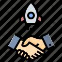 partner, nasa, rocket, startup, business, handshake, cooperation