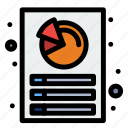 analysis, customization, document, report icon