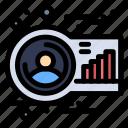 analysis, avatar, graph, human, person