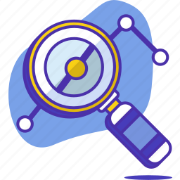analysis, analytics, business, magnifier, report, statistics, zomm icon