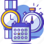 calendar, clock, date, schedule, time, timer, watch icon