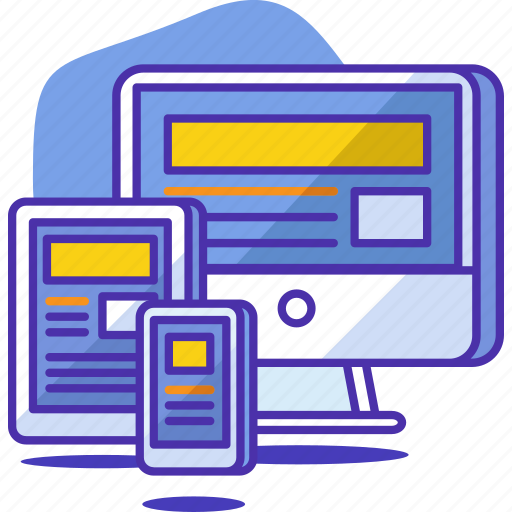 computer, design, graphic, layout, mobile, responsive, tablet icon