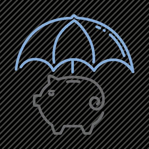 fund, money, protection, safety, umbrella icon