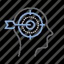bullseye, focus, goal, minded, target icon
