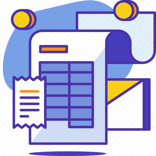 business, finance, invoice, money, pay, payment, receipt icon