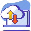 cloud, computing, data, internet, network, storage, upload icon